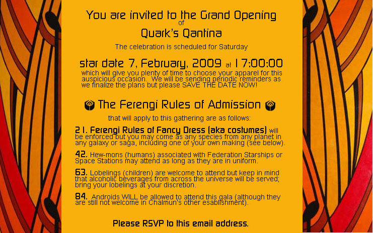 2009 quark 39 s qantina for The menu moss eisley canape